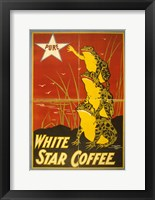 Framed White Star Coffee Frogs