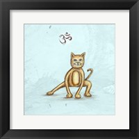 Yoga Cat I Framed Print