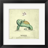 Elephant Yoga, Wheel Pose Framed Print