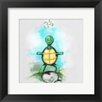Yoga Turtle I Framed Print