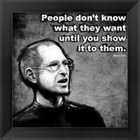 Framed Steve Jobs Quote III