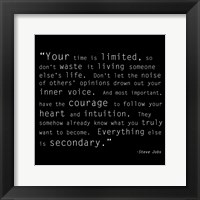 Time Quote Framed Print