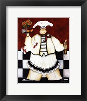 Crimson Chef I Framed Print