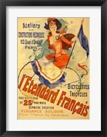 Framed I'Etendard Francais Bicyclettes