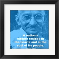 Framed Gandhi - Nations Quote