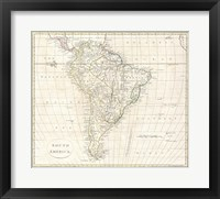 Framed 1796 Mannert Map of North America and South America