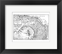 Framed Map of the Isthmus of Darien and Panama