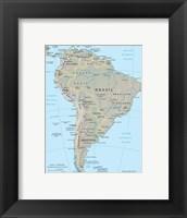 Framed South America