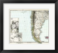 Framed Stielers Hand atlas 1891