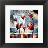 Framed Abstract Flowers