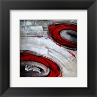 Abstract Circles I - red Framed Print