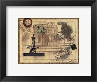 Small postcard from the Villa II Framed Print