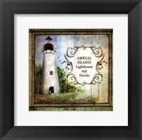 Framed Florida Lighthouse I