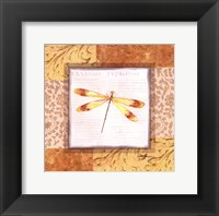 Framed Collaged Dragonflies IV