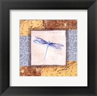 Framed Collaged Dragonflies V