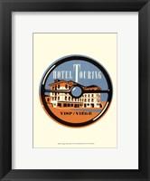 Vintage Travel Label IV Framed Print