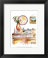 Girly Bath IV Framed Print