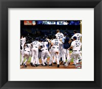 Framed Tampa Bay Rays celebrate their 2011 AL Wild Card victory