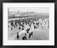 The Beach at Atlantic City Framed Print