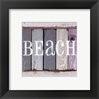 Beach Signs IV Framed Print