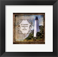 Framed Florida Lighthouse XII