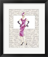 50's Fashion VI Framed Print