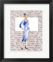 50's Fashion XI Framed Print