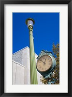 Framed Clock on Atlantic Avenue, Atlantic City, New Jersey, USA