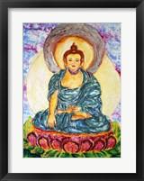 Framed Meditating On A Lotus