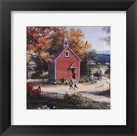 Framed Country Schoolhouse
