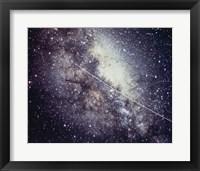 Framed Echo Satellite Trail  In Milky Way