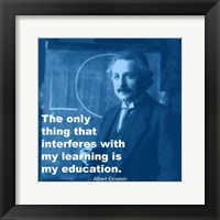 Einstein Education Quote Framed Print