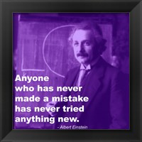 Einstein Try Something New Quote Framed Print