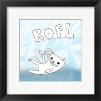 ROFL Cat Framed Print
