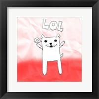 LOL Cat Framed Print
