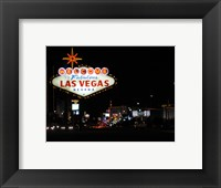 Framed Welcome To Vegas sign