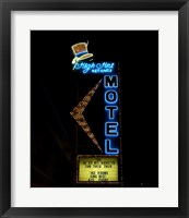 High Hat historic motel, Las Vegas, Nevada Framed Print