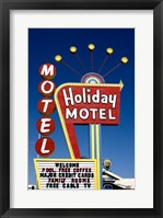 Holiday Motel Sign, Las Vegas, Nevada Framed Print