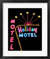 Holiday Motel, Las Vegas, Nevada Framed Print