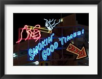 Old Motels and Historic Neon Art, Las Vegas Framed Print