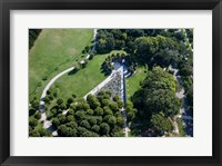 Ariel view of the Korean War Monument Framed Print