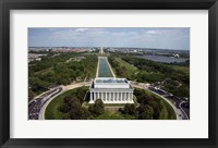 Framed Ariel view of the Lincoln Memorial