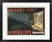 Framed Edisons Vitascope