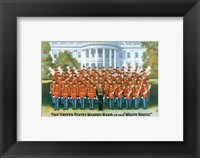 Framed Marine Band at the White house