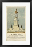 Framed Original concept for the Washington Monument