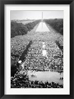 Framed Civil rights march on Washington