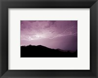 Cloud to cloud lightning strike Framed Print