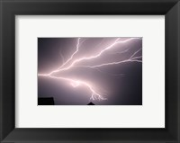 Cloud-to-cloud Lightning Framed Print