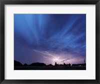 Lightning strike Germany Framed Print