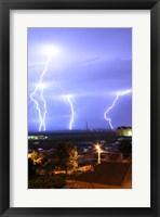 Framed Lightning over Oradea Romania